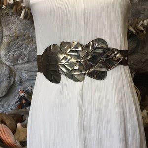 Vintage hammered all metal belt
